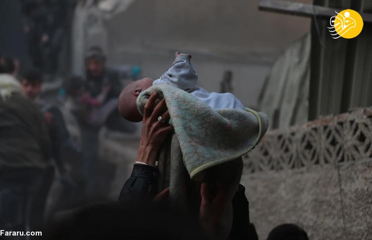 تصاویری تکاندهنده از ۱۰ سال جنگ و ویرانی در سوریه