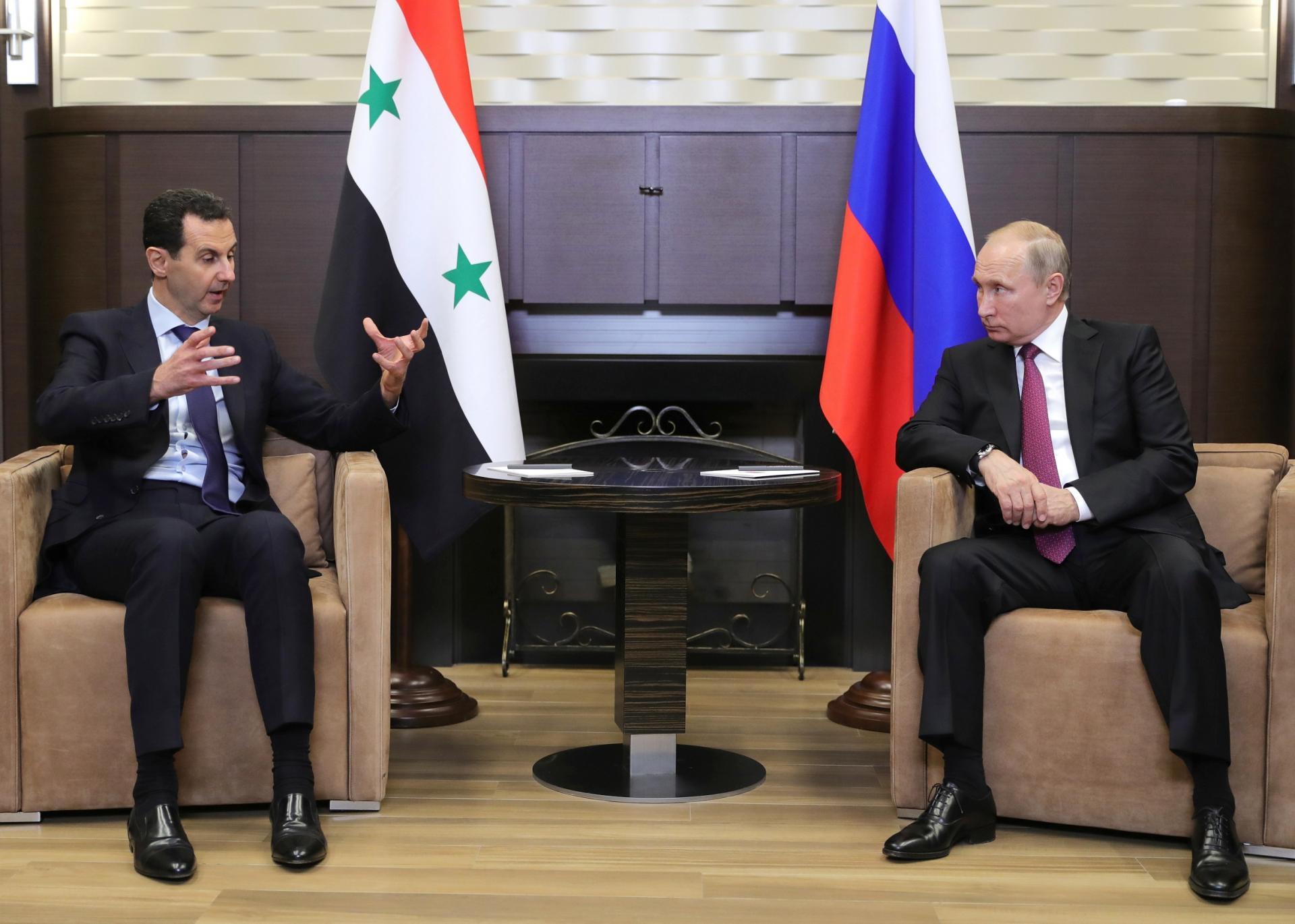 دوئل بشار اسد با ولادیمیر پوتین