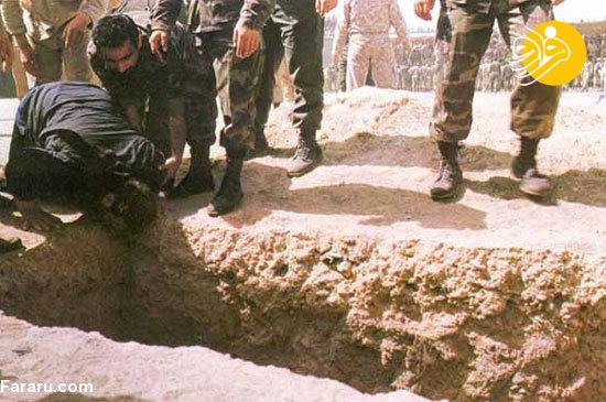 تصاویر کمتر دیده شده از مراسم خاکسپاری امام(ره)