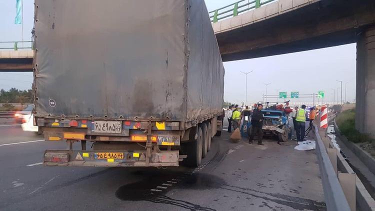 تصادف شدید در بزرگراه آزادگان و اعزام بالگرد