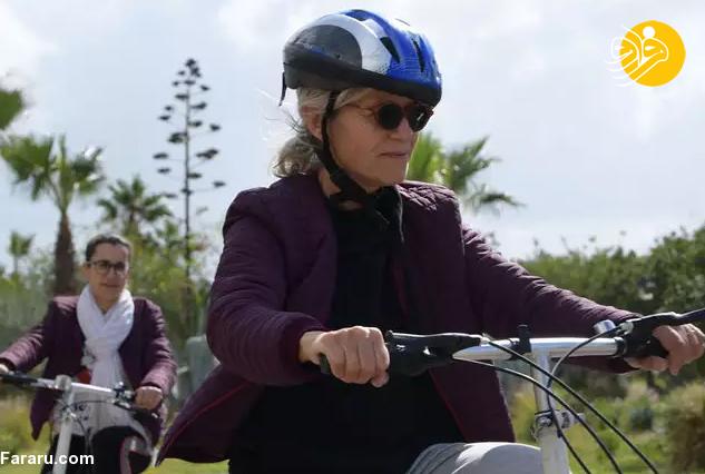 (ویدئو) دوچرخه سواری زنان در تونس