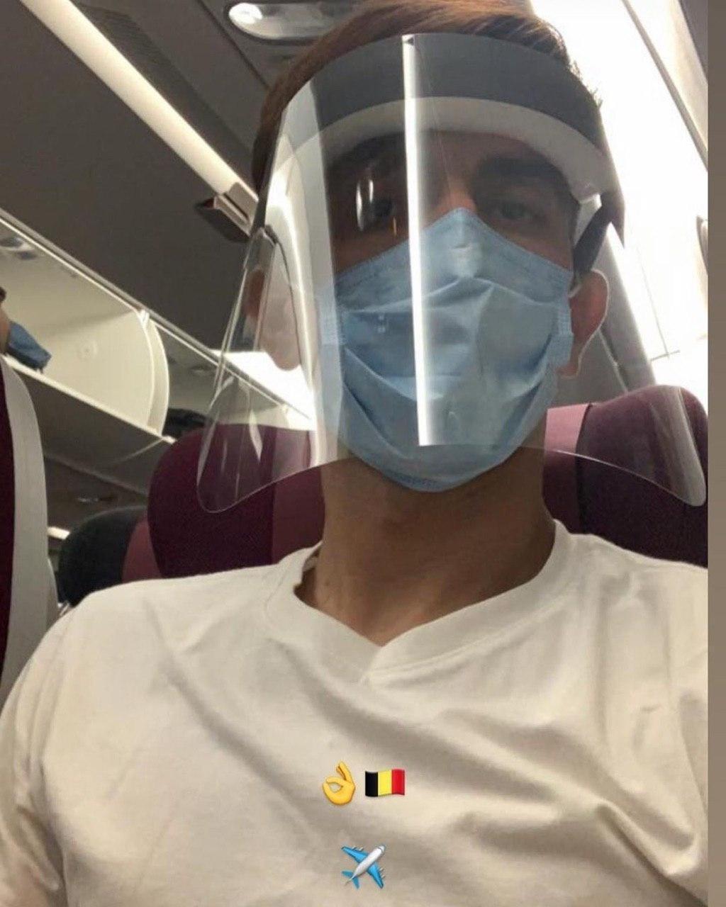 (عکس) استوری بیرانوند در هواپیما با چاشنی پروتکلهای بهداشتی