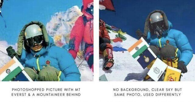 (تصویر) صعود کوهنورد هندی به اورست جنجال به پا کرد
