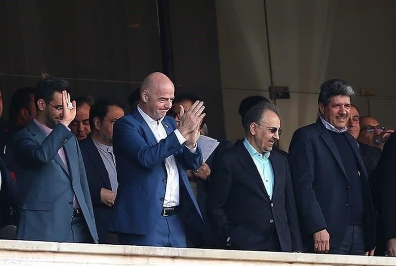 (عکس) مورد عجیب رئیس فیفا و پرسپولیس