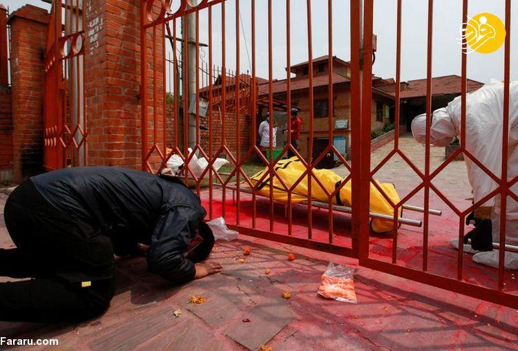 (تصاویر) نپال غرق در کرونای هندی