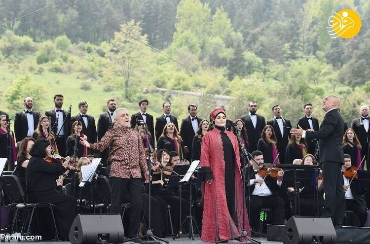 (تصاویر) الهام علی اف و همسرش در جشنواره موسیقی قره باغ