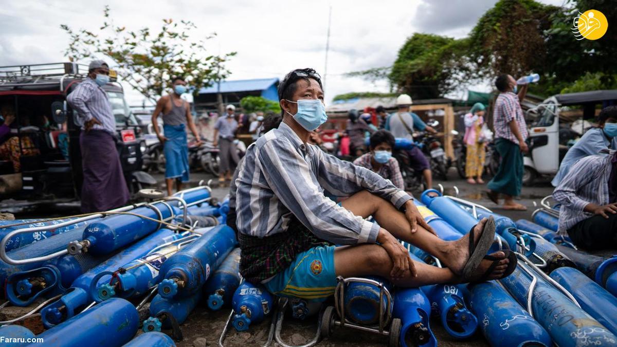 (تصاویر) کمبود اکسیژن در میانمار