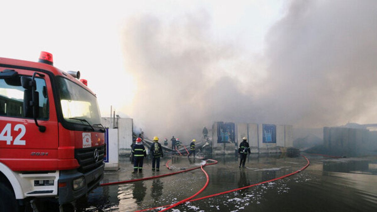 فرودگاه المثنی در بغداد از فاجعه نجات یافت