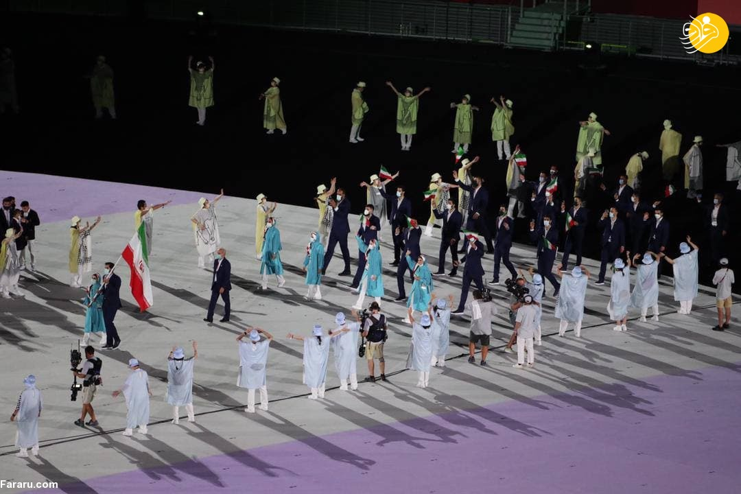 (تصاویر) رژه کاروان ایران در المپیک ۲۰۲۰