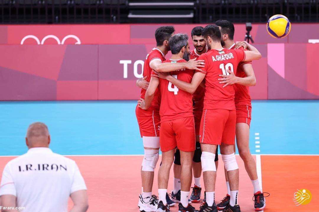دومین پیروزی تیم ملی والیبال ایران در المپیک
