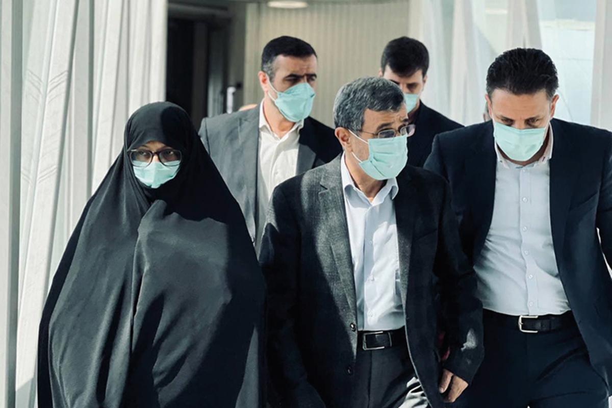 (تصاویر) احمدینژاد و همسرش در دبی