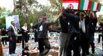 تدفین پیکر دو شهید گمنام در بوستان زمزم تهران. (ایرنا/ امین جلالی)