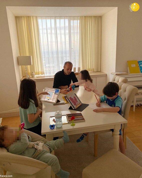 آندرس اینیستا و فرزندانش