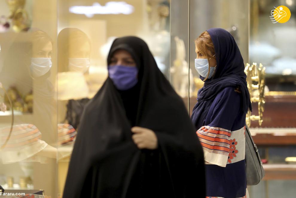 زنان ایرانی با ماسک در یک مرکز خرید در تهران. ایران با بیش از 20 هزار قربانی کرونا بیشترین آمار مرگ و میر در خاورمیانه را ثبت کرده است/ عکس: AP