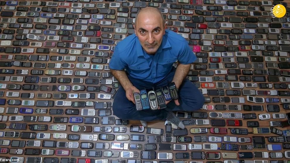 resized 792578 790 - مردی که ۱۰۰۰ موبایل در خانه دارد!/ عکسها