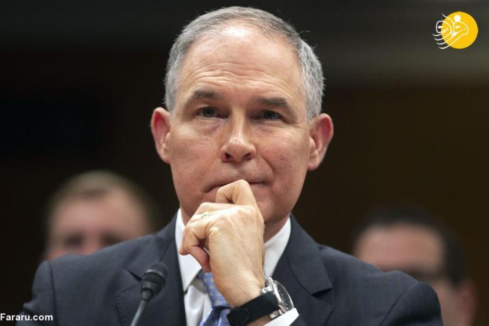 5 جولای 2018: اسکات پرویت، رئیس آژانس حفاظت از محیط زیست