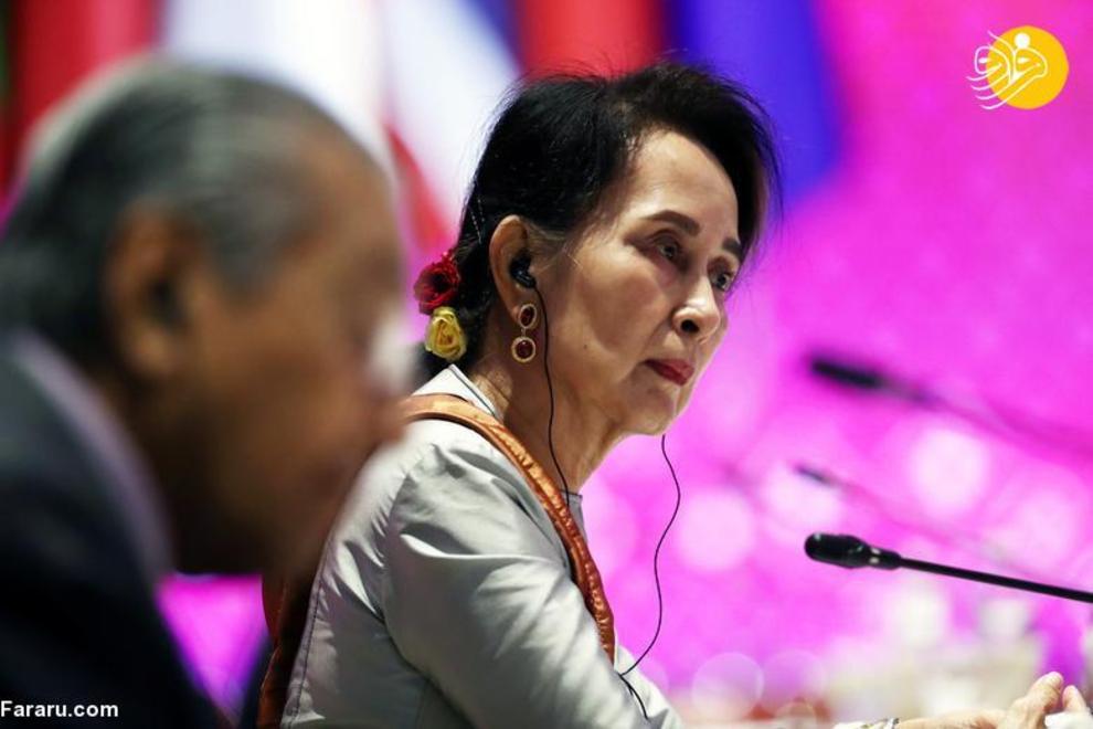 آنگ سان سوچی رهبر میانمار که از 6 آوریل 2016 در این سمت است