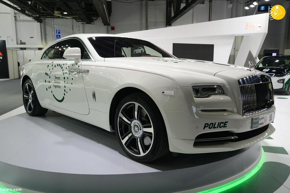 رولزرویس Wraith لوکس ترین خودروی پلیس دبی