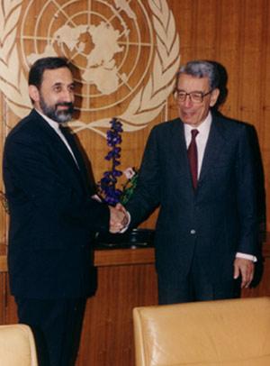 دیدار با پطرس غالی دبیر کل وقت سازمان ملل