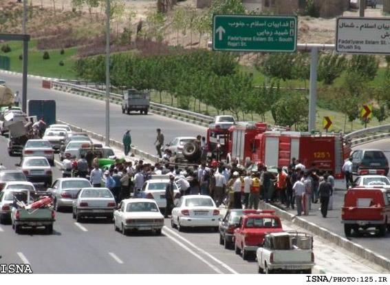 عکس تصادف پل قویون ارومیه